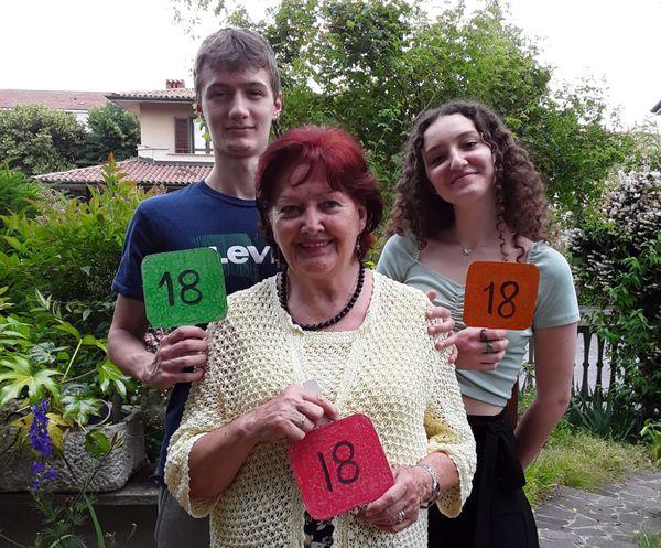 Stefania Merli e nipoti